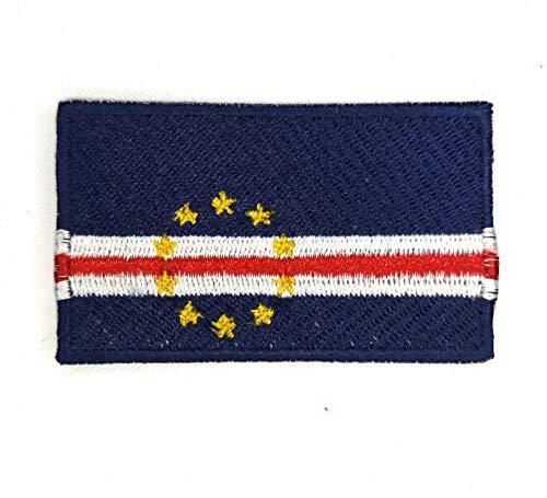 Kaapverdië nationale land vlag ijzer naaien op geborduurde patch