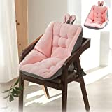 ZOVCO Cojín semicerrado de un asiento, cómodo y esponjoso con cojín para aliviar el dolor de la espalda, cojín de terciopelo para proteger tu columna vertebral y la parte inferior (rosa)