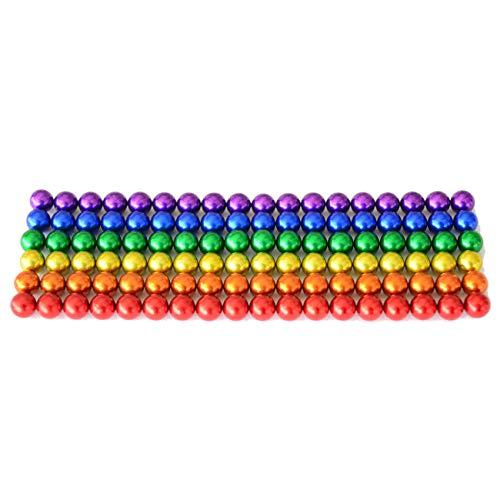 Bolas magnéticas, de 5 mm, imanes potentes, para pizarra y frigorífico, 100 unidades, color Arco iris