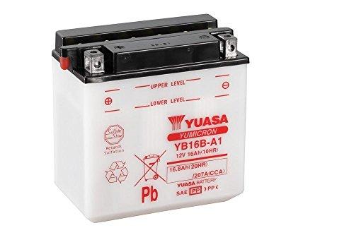 Motorrad Batterie YUASA YB16B-A1, 12V/16AH (Maße: 161x91x162)