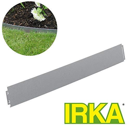 IRKA Rasenkante schmal 14 cm mit doppelter Korrosionsvorsorge und einfachem klick-Fix-System 1 Meter