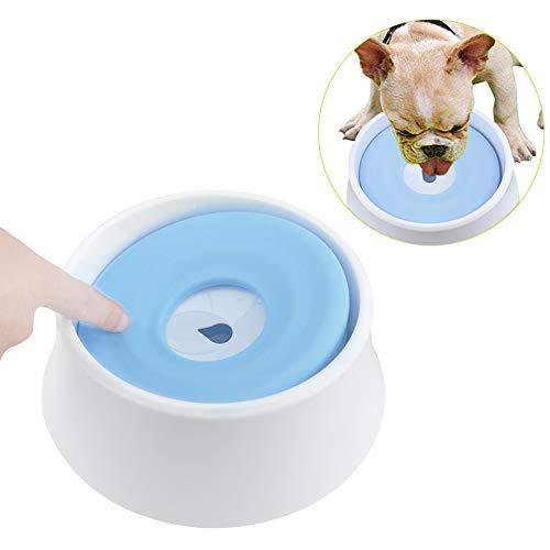 AYADA Wassernapf Wasserschale Napf für Katze Hund, Auslaufsicherer Hundenapf Fressnapf Wasser Anti-Überlauf rutschfest Näpfe Pet Water Bowl,Groß Freßnapf Fressnäpfe Reisenapf 1,2L(Blau)