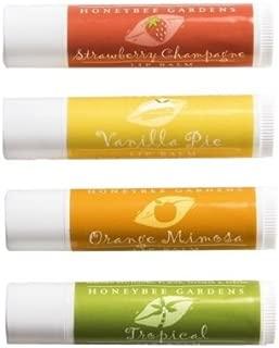 Honeybee Gardens All Natural Lip Balm 4-Pack