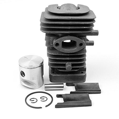 Haishine Juego de pistones de Cilindro de 39 mm para Husqvarna 235 236 236E 240 240E Motosierra 10 mm Pin Motor Motor Partes # 545050417