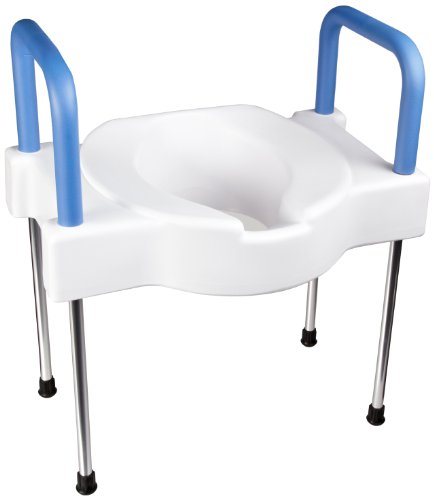 SP Ableware - 9155 Maddak Tall-Ette Elevated Toilet Seat with Extra Wide Seating Surface and Legs (725881000), White