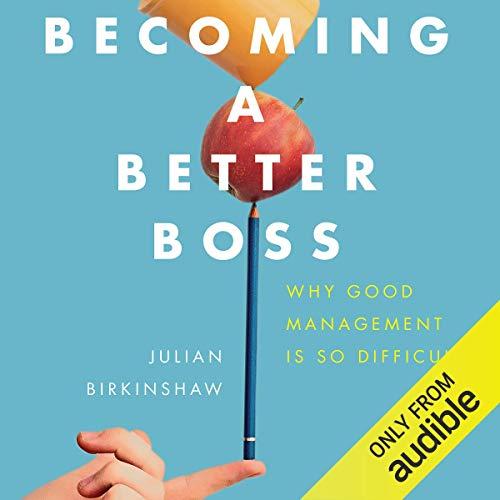 Becoming a Better Boss audiobook cover art