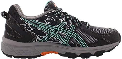 ASICS Women's Gel-Venture 6 Running Shoe, Black/Ice Green/Orange, 7 M US