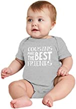 Cousins Make The Best Friends - Matching Bodysuit (Light Gray, 6 Months)