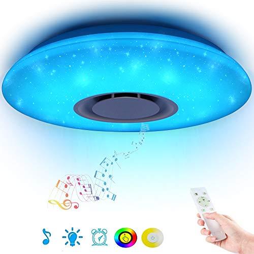 36W Sternenhimmel Deckenleuchte LED mit Fernbedienung Dimmbar Farbwechsel, Bluetooth Lautsprecher Musik Deckenlampe, für Kinderzimmer Schlafzimmer Kinder Geschenk (CE-zertifiziert)