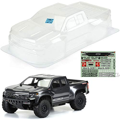 Pro-Line Racing Clear Body, 2019 Chevy Silverado Z71 Trail Boss: 1/10 Slash, SC10, PRO351200