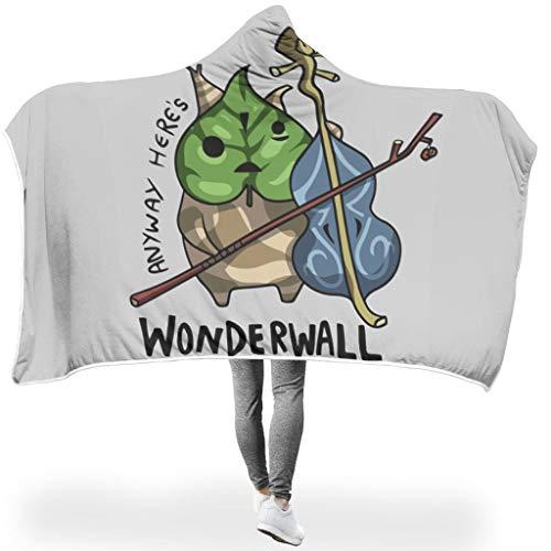 LAOAYI Wunderwand Zelda PrintedWearable Tapisserie Hooded Throw Wrap Blatt weich sanft Soft-Mantel Schlafdecke Winter TV Computer Badetuch Für Kinder White 130x150cm