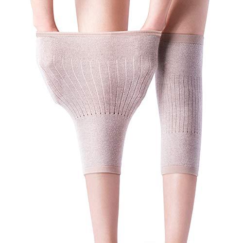 nuluxi Winter Damen Elastische Kniebandage Elastische rutschfeste Gestrickte Kniestütze Knieschoner Knieorthese Beinlinge Beinwärmer Kniewärmer Kaschmir Kniewärmer für Freizeit Laufen Tanzen und Yoga
