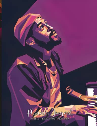 """Weekly and Monthly Planner: Marvin Gaye Prince of Motown Singer Songwriter PopArt WPAP Tracking Goal Planner To Do List, Habit, Agenda Schedule Organizer Logbook 156 pages 7,44 x 9,69"""" Journal"""