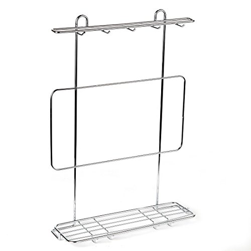 Home-X Kitchen Utensil Rack. Chrome