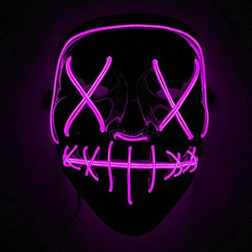 Immoch Halloween LED Máscaras Adultos LED Mask para la