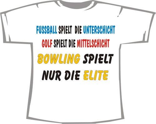 Die Elite spielt Bowling; T-Shirt weiß, Gr. 4XL; Unisex
