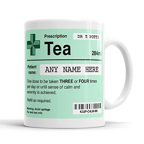 Funny Prescription Tea Mug, Personalised Prescription Mug, Doctor Mug, Customisable Tea Mug, Gift for Colleague, Funny Gift Idea, Cool Custom Mugs