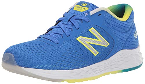 New Balance Kid's Fresh Foam Arishi V2 Lace-up Running Shoe, Vivid Cobalt/Sulphur Yellow, 1.5 Wide Little