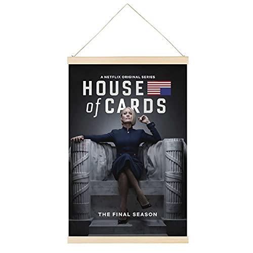 Juliyeh House of Cards (2013) - Marco para colgar para póster de TV (20 x 76 cm)
