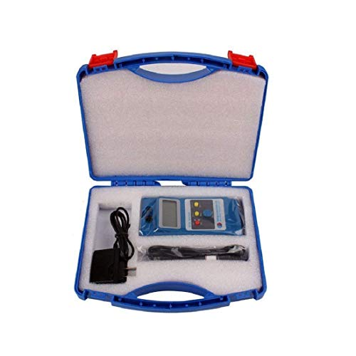 Isunking WT10A Tragbares LCD-Gauß-Messgerät Digitaler Durchflussmesser Oberflächenmagnetfeldtester mit NS-Funktion und Metallsonde