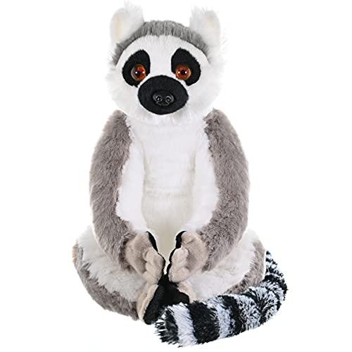 Wild Republic Peluche Lemur Catta Cuddlekins, Jouets, 30cm