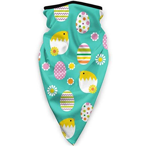 BJAMAJ Hatching Pasen Kuikens Eieren Patroon Outdoor Gezicht Mond Masker Winddicht Sport Masker Ski Masker Sjaal Bandana Mannen Vrouw