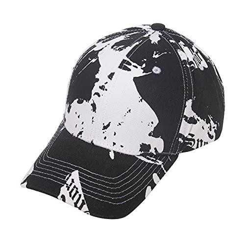 KGMO Tie Dye Gorra De Béisbol para Hombre Gorra De Golf para Hombre Gorras De Baloncesto Gorras De Algodón Sombreros para Hombres Y Mujeres Gorra con Letras Negro