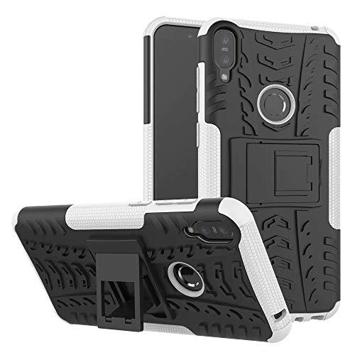 Capa Capinha Anti Impacto Para Asus Zenfone Max Pro M1 Zb602kl Tela 6.0Case Armadura Hybrid Reforçada Com Desenho De Pneu - Danet (Branca)