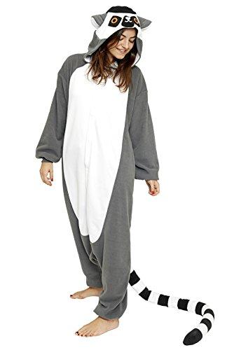 Lémurien Costume | Kigurumi Cosplay Onesie Grenouillère - Medium