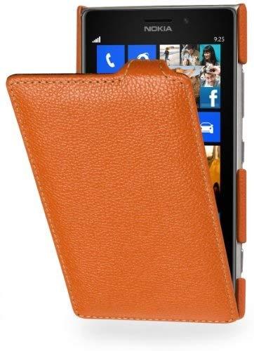 Stilgut - Custodia esclusiva in pelle per Nokia Lumia 925, colore: Mandarino