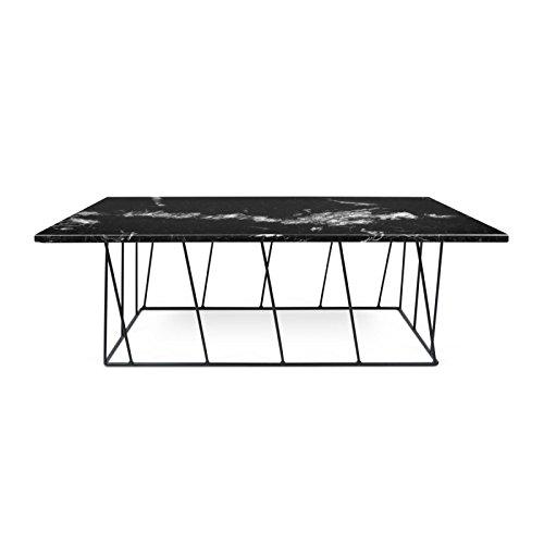 Paris Prix - Temahome - Table Basse Helix 120cm Marbre Noir & Métal Noir