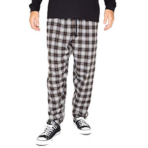 Skidz Black and White Tartan Pants for Men, S to XL