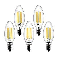 [Dimmerabili Vintage Bulbs] - Schema dimmerazione super stabile, nessun sfarfallio, nessun ronzio o ronzio. [Risparmio energetico] - Questa lampadina LED a filamento da 4W può sostituire lampadine alogene o a incandescenza vintage da 40 W, riducendo ...