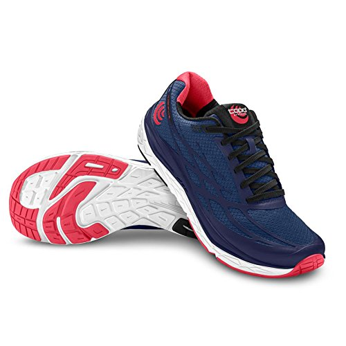 Topo Athletic Magnifly 2 Road Laufschuhe für Damen, Damen, Straßenlaufschuhe, W021, Navy/Pink, 7