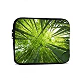 Bolsa para computadora portátil para Hombres Bamboo Forest Green Leaves iPad Mini Accesorios compatibles con iPad 7.9/9.7 Pulgadas Bolsa Protectora de Tableta de Neopreno a Prueba de golp