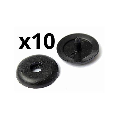 Twowinds - 10x Topes para Cinturón de Seguridad Botones plástico Universal