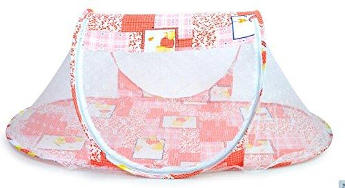 Mosquitero plegable para cama de bebé, tienda de campaña instantánea, cuna multifunción parque infantil emergente (rosa)