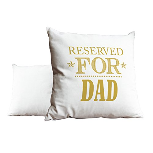 Duke Gifts Reserved for Dad Gold White Cushion Scatter Pillow 047