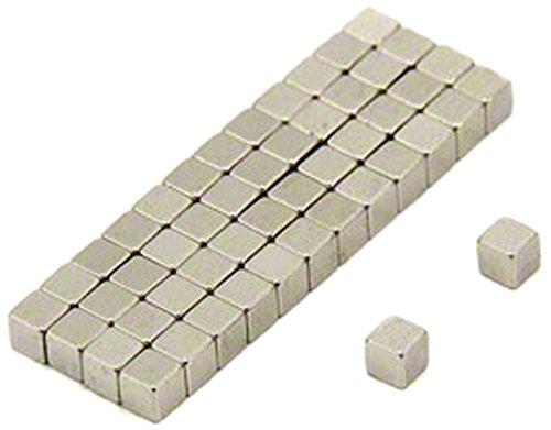 first4magnets F316-N35-50 - Imán de neodimio (50 unidades, 3 x 3 x 3 mm, N35, 0,28 kg de fuerza de sujeción)