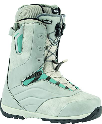 Nitro Snowboards Damen Crown TLS '20 All Mountain Freeride Freestyle Schnellschnürsystem Boot Snowboardboot, Grey-Steel Blue, 24.5