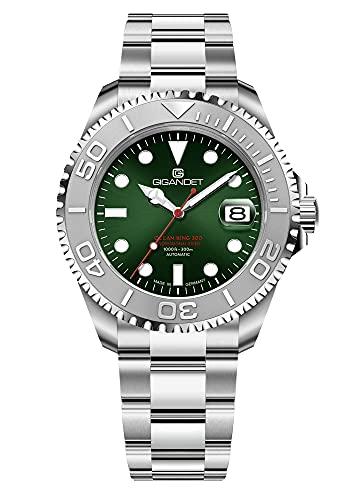 Gigandet Ocean King G404-004M - Reloj automático para hombre (fabricado en Alemania, cristal de zafiro, acero inoxidable, sumergible a 300 m, 30 bares)