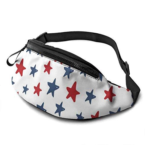 XCNGG Bolso de cintura corriente bolso de cintura de ocio bolso de cintura bolso de cintura de moda Colorful Star Waist Bag Pack Sturdy Zippers Running Belt Large Capacity Waist Pouch Bag for Phone Pa