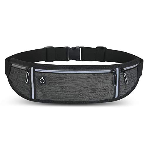 Laufgürtel Handy Joggen Wasserabweisende Lauftasche Jogging 3 Taschen Kopfhörer für Gym Training Reisen & Outdoor-Aktivitäten