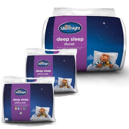 Branded Bedding Silentnight Deep Sleep 13.5 Tog Super King Duvet & Deep Sleep Pillows (4 Pack)