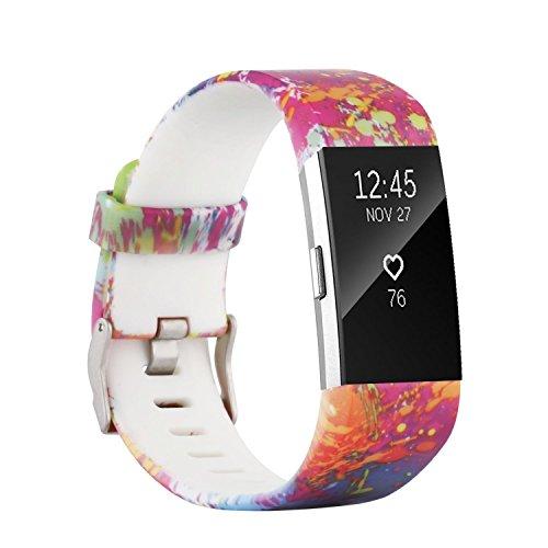 Fit-power voor Fitbit Charge 2 Banden, Zachte Verstelbare Vervanging Sport Polsband voor Fitbit Charge 2 Kleine/Groot