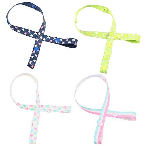 5 stücke Verschiedene Farben Einstellbar Anti-Drop Babyflasche Spielzeug Sippy Cup Halter Strap Clip Kleiderbügel mit Festtaste für Kinderwagen Kinderwagen
