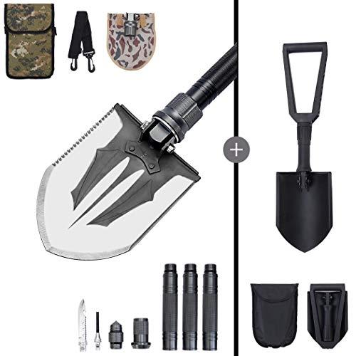 Shovel Survival Tool Tactical Shovel for Digging Folding Shovel Multitool Shovels for Gardening Trenching Shovel Spade Shovels for Digging Camp Shovel Multi-Tool Backpacking