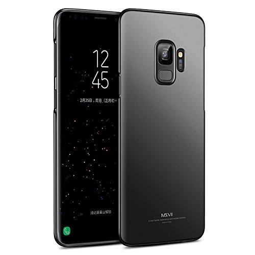 Msvii Cover Samsung Galaxy S9 (5.8'), Ultra Sottile Custodia Cover Case per Samsung Galaxy S9 (5.8') - Nero JY00432