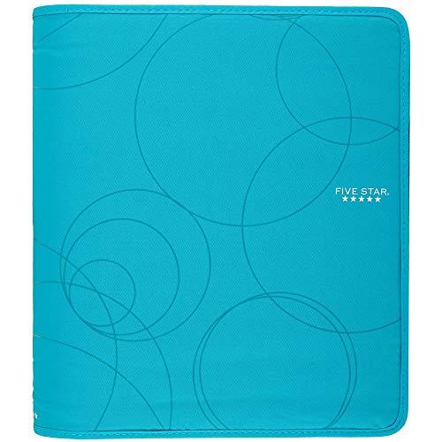 Five Star Zipper Binder, 1-1/2 Inch 3 Ring Binder, Internal Pocket for Storing Paper & Supplies, Durable, Teal (72358)