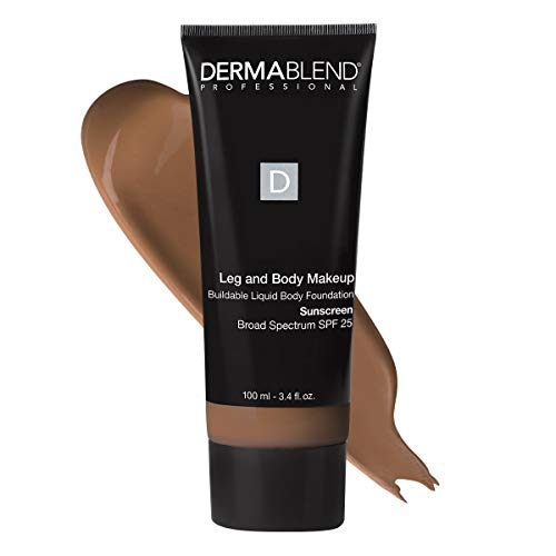 Dermablend Leg and Body Makeup Foundation with SPF 25, 70W Deep Golden, 3.4 Fl. Oz.